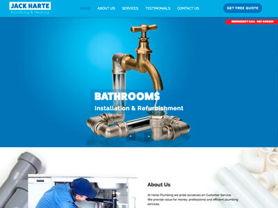 Jack Harte Plumbing & Heating website